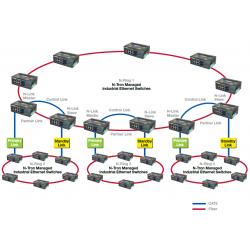 Exemple topologie N-Ring avec N-Link avec switches managés