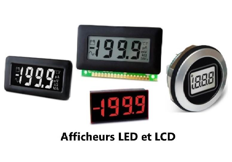 Afficheurs industriels LCD et LED