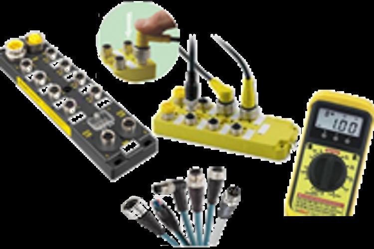 Connectiques, câblages, réseaux industriels, modules I/O M8/M12...