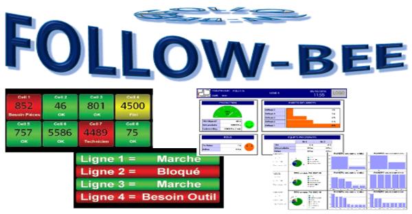 Solution de pilotage et suivi de production avec affichage KPI sur grand écran et reporting intégré